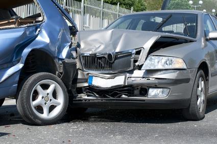 事故にあった車